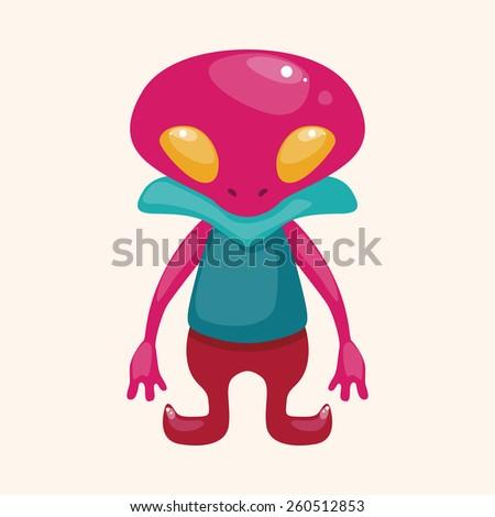 cartoon space alien   - stock photo