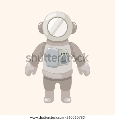 cartoon spaceman   - stock photo