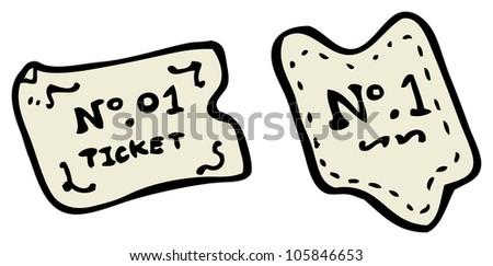 cartoon tickets - stock photo