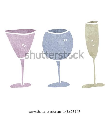 Wine Glass Cartoon Cartoon Wine Glasses