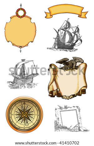 Cartush and sailboats - stock photo