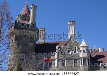 casa loma castle, toronto, ontario,canada - stock photo