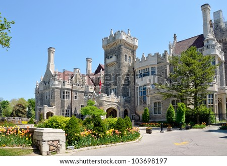 Casa Loma, famous castle in Toronto - stock photo