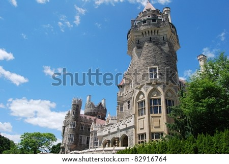 Casa Loma in Toronto, Canada - stock photo