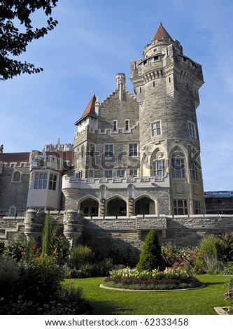 Casa Loma, Toronto's castle built by Sir Henry Pellat in the early 1900s - stock photo