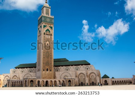 CASABLANCA/MOROCCO APRIL 4TH 2006 - Hassan II Mosque - stock photo