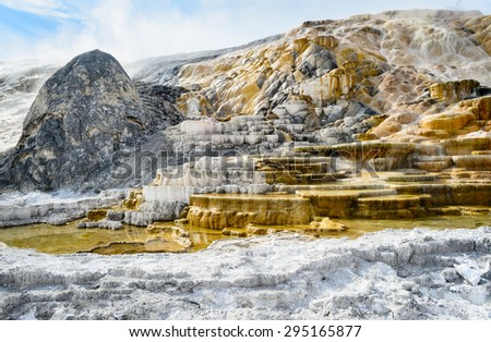 Cascade at Yellow Stone National Park - stock photo