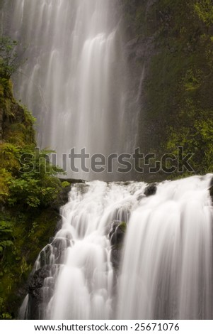 Cascading waterfall - stock photo