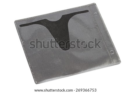 Case for disk on the white background - stock photo