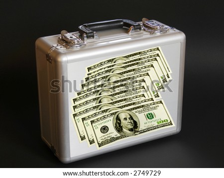 Case for dollars - stock photo