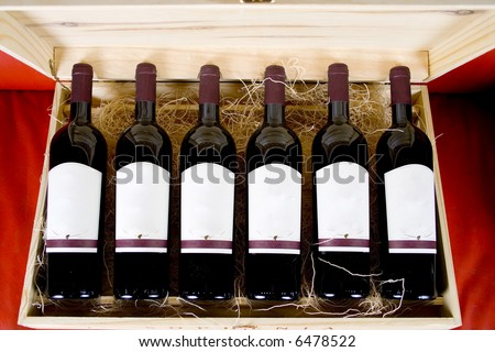 Case of wine - stock photo