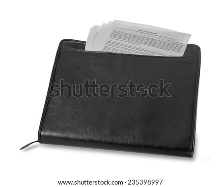 Case  with documents - stock photo