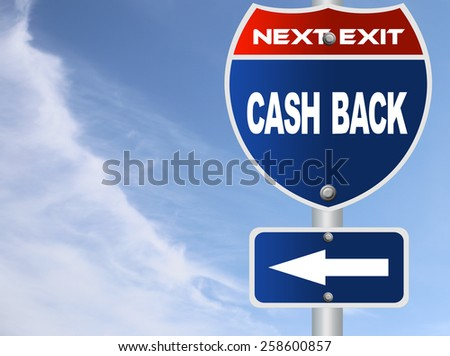 Cash back road sign - stock photo