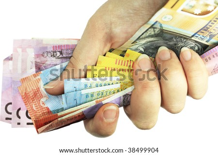 Cash in Hand - stock photo