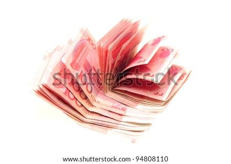 Cash of China money RMB100 - stock photo