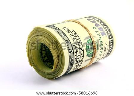 Cash on white background - stock photo