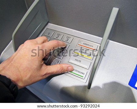 cash point - stock photo
