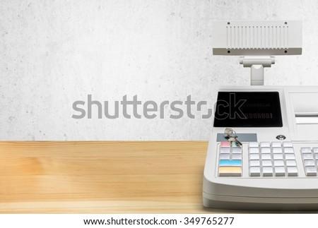 Cash Register. - stock photo