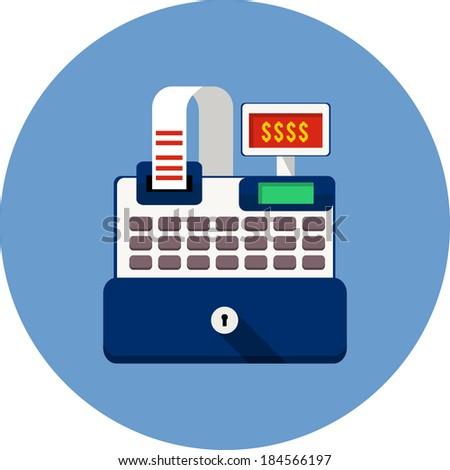 Cash Register Icon - stock photo