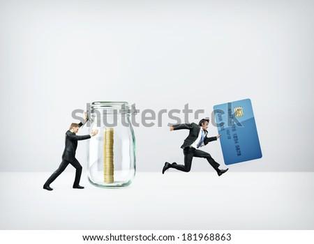 Cash VS Card - stock photo