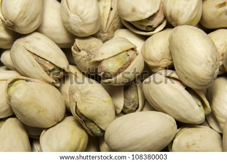 Cashew and pistachios nuts close-ups - stock photo