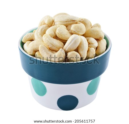 Cashew in a bowl - stock photo