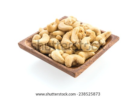 cashew isolated on white background - stock photo