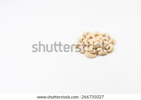 Cashews on White Background - stock photo