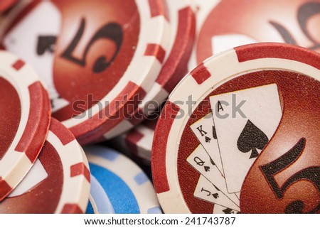 Casino chips- gambling concept  - stock photo