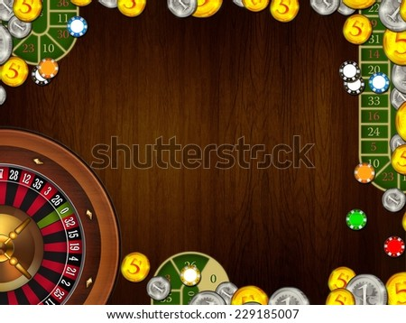 casino gambling coins and tokens background texture illustration - stock photo