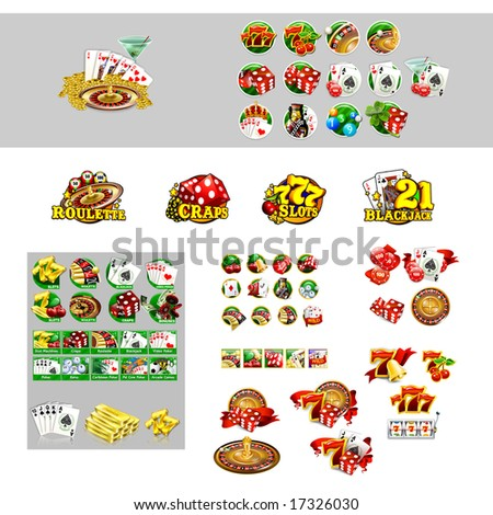 Casino Icons - stock photo