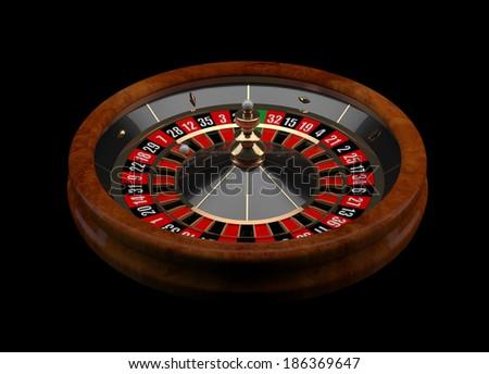 Casino Roulette 3D - stock photo