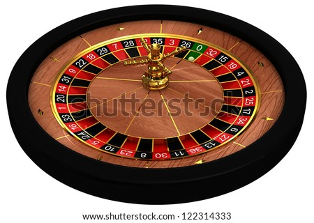 Casino Roulette. 3d rendered image on white background - stock photo