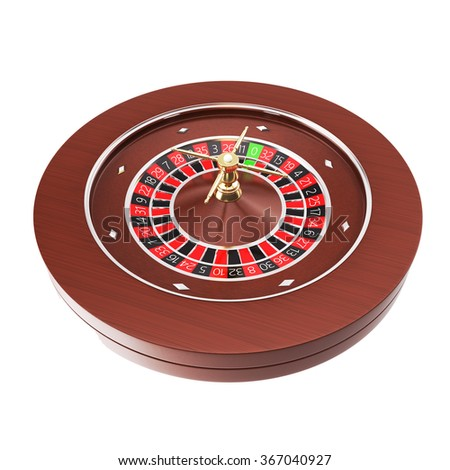 Casino roulette isolated on a white background. - stock photo