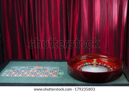 Casino, roulette table - stock photo