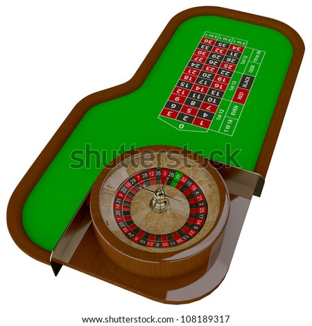 Casino roulette table. Gambling illustration concept. - stock photo