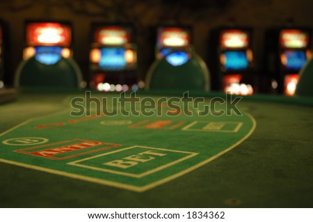casino, selective focus on bet. - stock photo