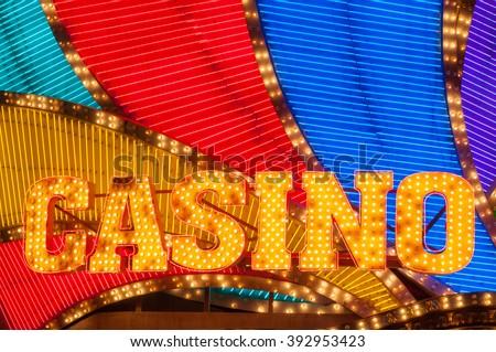 Casino sign  - stock photo