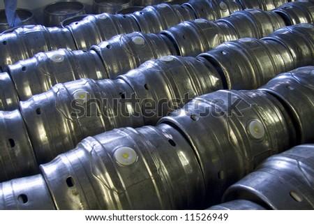 Casks of beer - stock photo