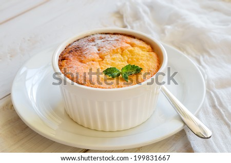 Casserole baked with cottage cheese  - stock photo