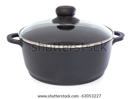 Casserole dish covered with lid - stock photo