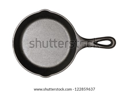 Cast-iron frying pan (clipping path included) - stock photo