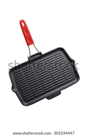 Cast Iron Grill Pan - stock photo