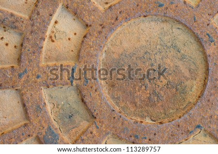 Cast Metal Grate Background - stock photo