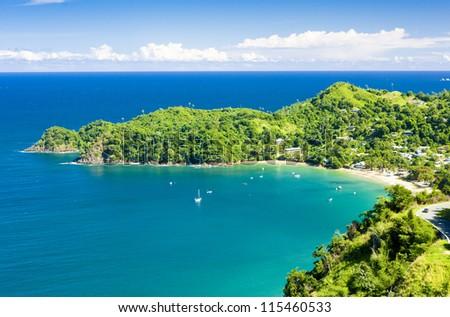 Castara Bay, Tobago - stock photo