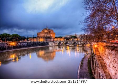 Castel Sant' Angelo, Rome - stock photo