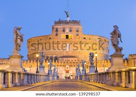 Castel Sant Angelo, Rome, Italy. - stock photo