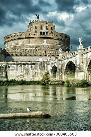 Castel Sant'Angelo, Rome, Italy - stock photo