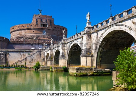 Castel Sant'Angelo - Rome, Italy - stock photo