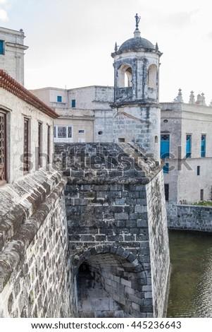 Castillo de la Real Fuerza ( Castle of the Royal Force) in Havana, Cuba - stock photo
